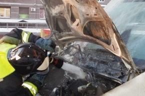 Грузовой фургон тушили на Гжатской улице