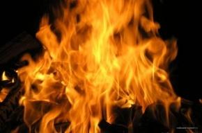 На Хасанской улице загорелся гараж
