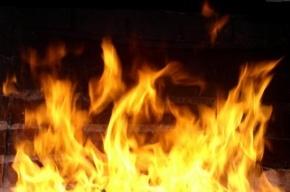 В Красногвардейском районе горел гараж