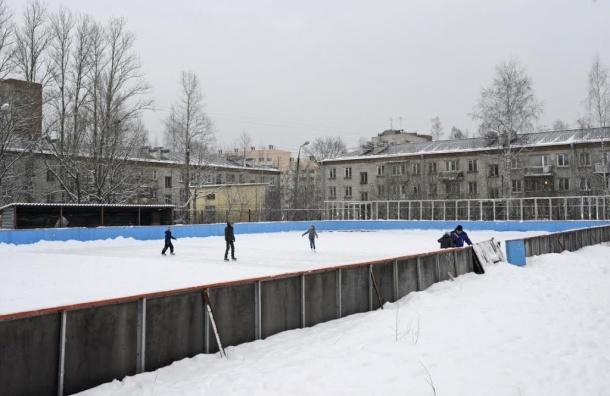 Жители Красносельского района восстановили заброшенный каток