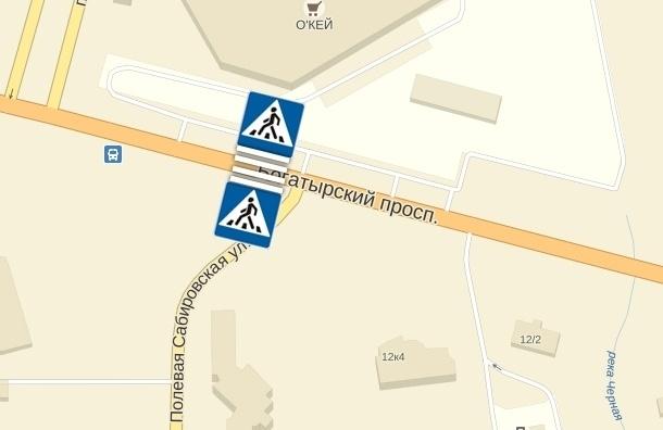 Жители Приморского района просят установить пешеходный переход