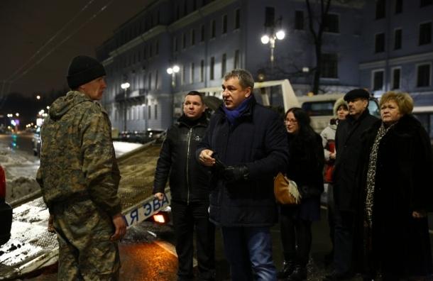 Игорь Албин совершил ночной рейд по улицам Петербурга