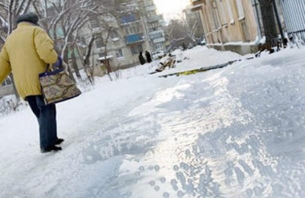 МЧС Петербурга предупреждает жителей города о гололеде