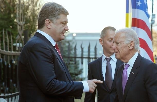 Байден и Порошенко согласились ужесточить санкции против России