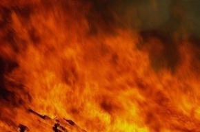 При пожаре в Петродворцовом районе пострадал мужчина