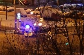 Свидетели: в Купчино машина ППС попала в аварию