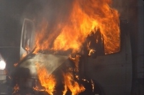 На шоссе Революции ночью сгорели две «Газели»