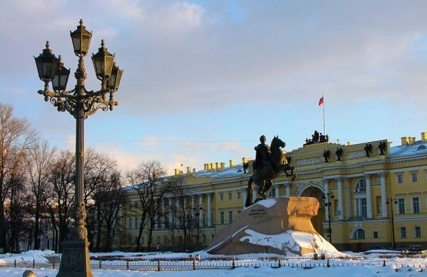 На части Сенатской площади перекроют движение до 25 апреля