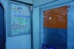 Фоторепортаж: «антивоенные плакаты в метро»