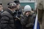 акция у Соловецкого камня: Фоторепортаж