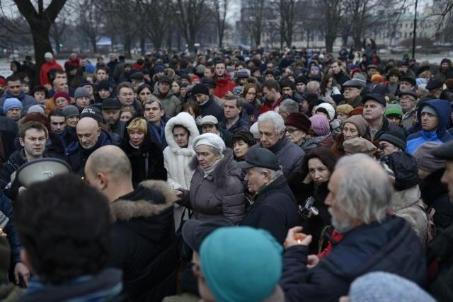 акция у Соловецкого камня: Фото