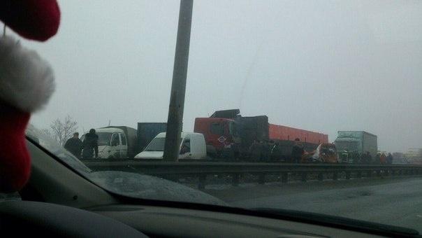 Авария на Киевском шоссе 26.02: Фото