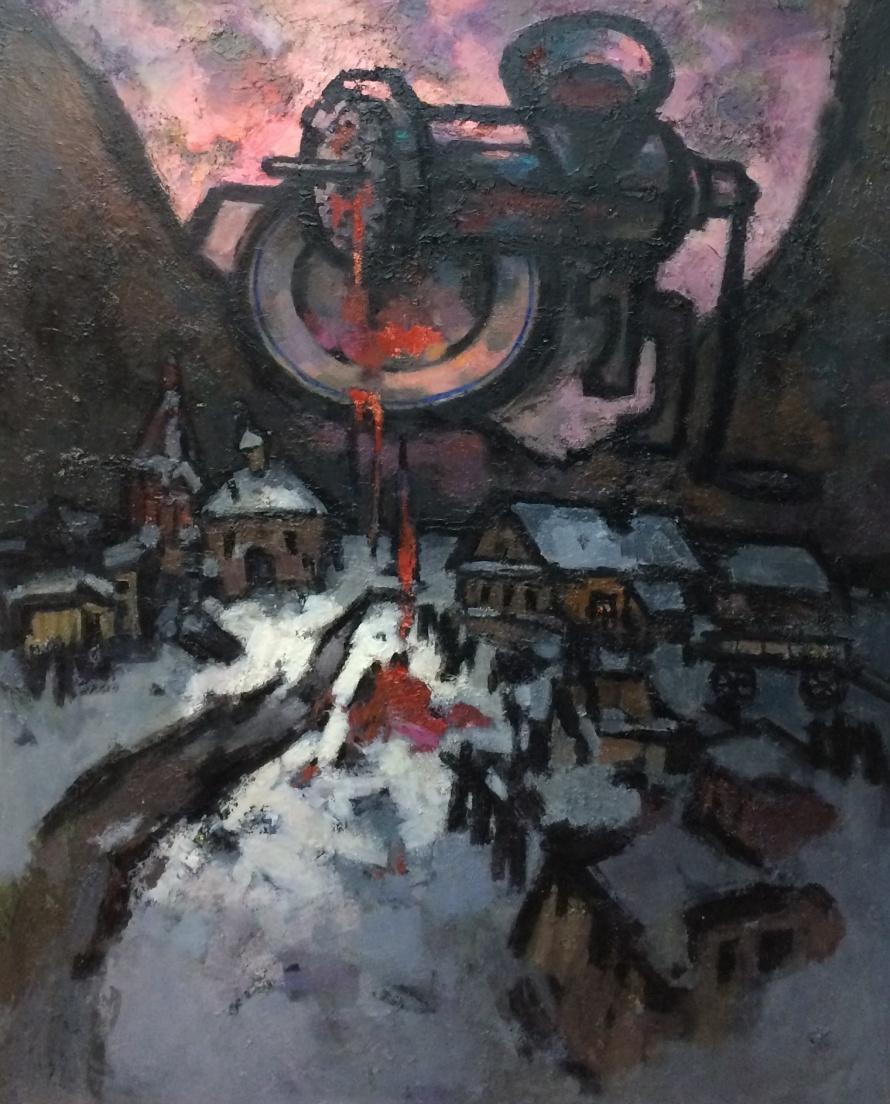 Оскар Рабин Мясорубка 2014  Холст, масло, 100×83 см