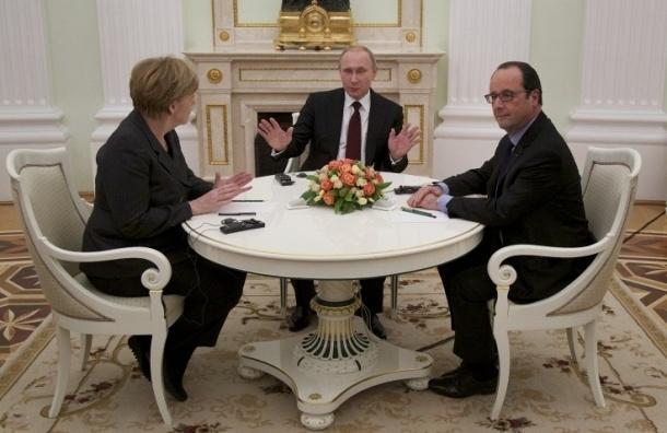 Переговоры РФ, ФРГ и Франции продолжатся в воскресенье  в «нормандском формате»