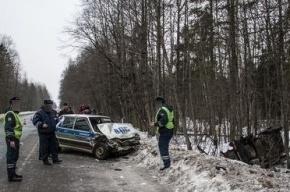 В аварии с участием полицейского автомобиля погиб один человек