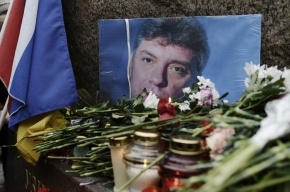 У Соловецкого камня проходит акция памяти Немцова