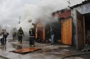 Пожар в Горелово полностью потушен
