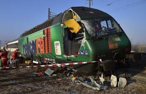 В Швейцарии при столкновении поездов пострадали не менее 49 человек