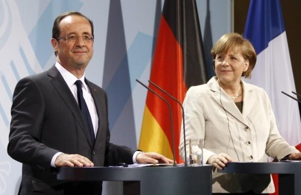 Путин, Олланд и Меркель начали переговоры в Кремле