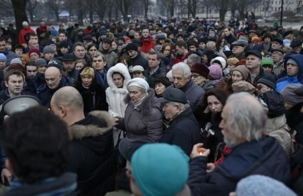 Траурный марш памяти Бориса Немцова начался в Петербурге