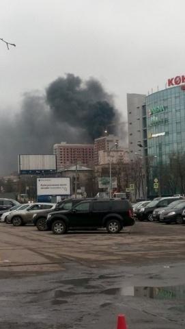 Пожар на  Московском, фото: соц.сети: Фото