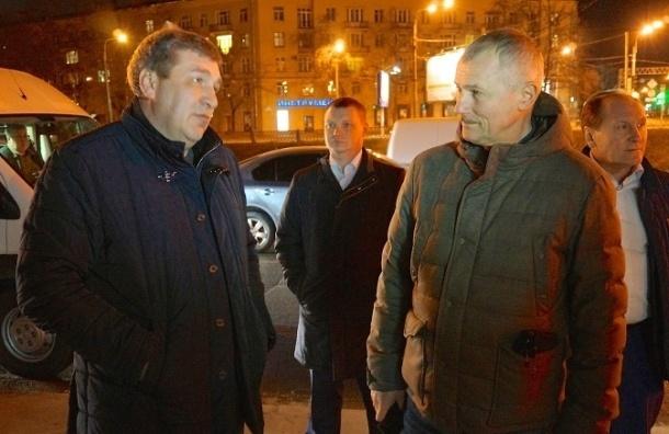 Игорь Албин ночью проинспектировал качество уборки в трех районах