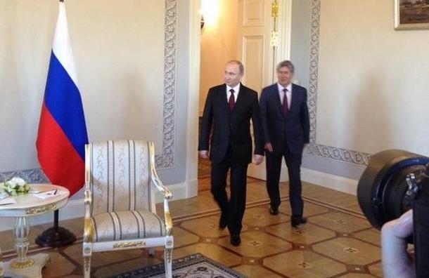 Владимир Путин встретился с главой Киргизии Алмазбеком Атамбаевым