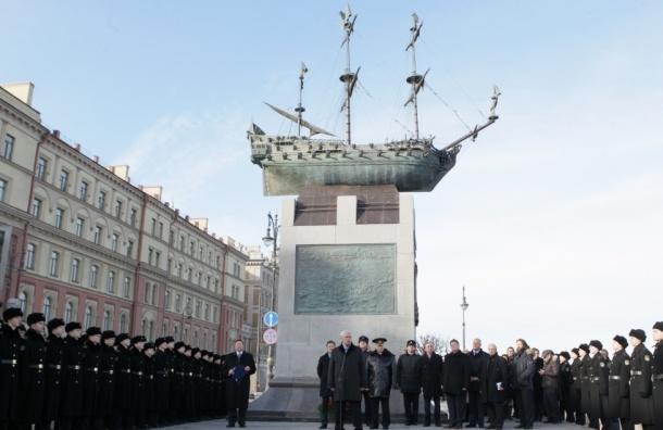 В Северной столице открыли памятник кораблю «Полтава»