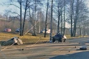 Машину на Приморском шоссе разорвало напополам