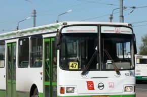 На Васильевском острове в автобус №47 врезался легковой автомобиль