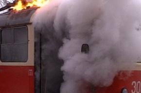 На Боткинской улице загорелся трамвай
