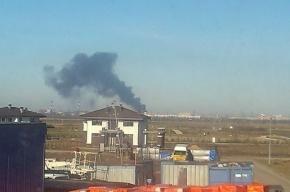 В Колпино горела строительная площадка