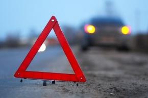 В Красногвардейском районе автомобиль снес светофор