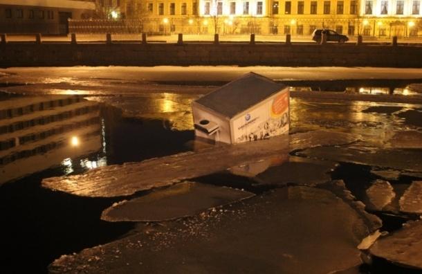 Страшное ДТП на наб. Фонтанки: Audi вытолкнула «Газель» в реку