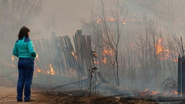 Пожары в Хакассии: Фото