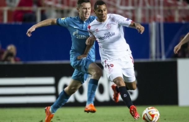 «Зенит» отдал победу «Севилье» в первом матче четвертьфинала Лиги Европы