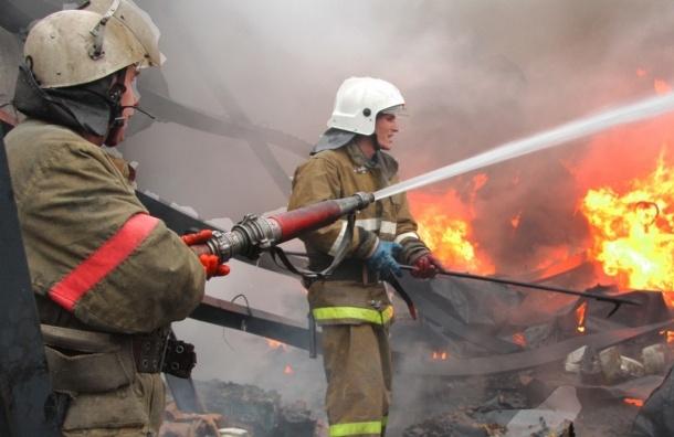 В Лисьем носу ночью тушили пожар повышенной сложности