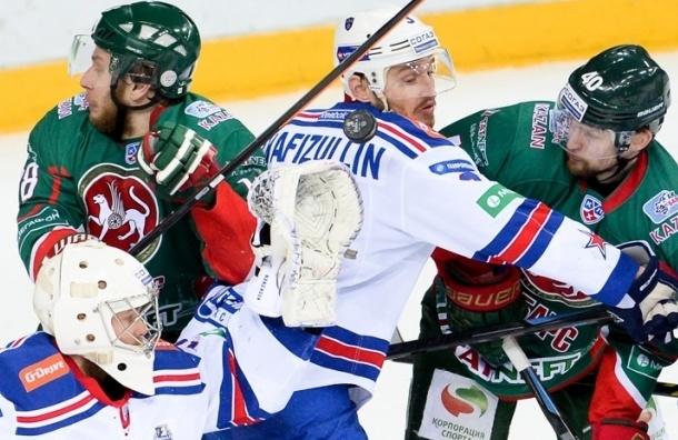 Встреча «Ак Барс» и СКА закончилась победой петербуржцев