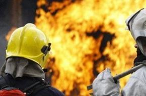 Автомобиль Audi сгорел на Лиговском