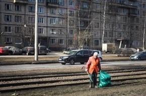 Дворники в Петербурге зарабатывают по 12 тыс. рублей