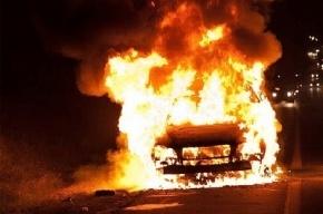 На набережной канала Грибоедова ночью сгорела Audi