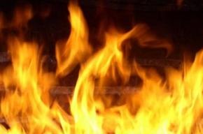 14 пожарных тушили  реконструируемое здание на Непокоренных