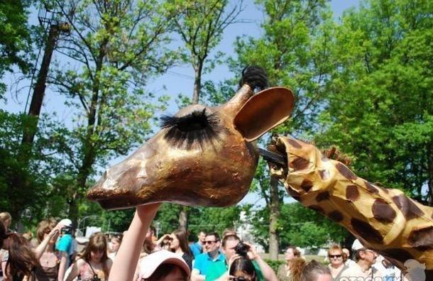 В ЦПКиО  на выходных можно будет увидеть пятиметровых жирафов и балерин
