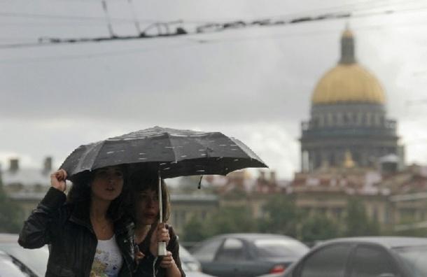 МЧС: В День города Петербург ждет шторм, ливни и грозы