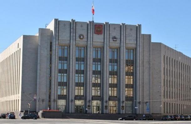 Журналистов не пускают в здание Законодательного Собрания Ленинградкой области