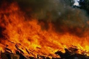 Из-за пожара на Обводном канале эвакуировали четырех человек