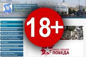 Петербургский муниципалитет ссылается на сайт для взрослых