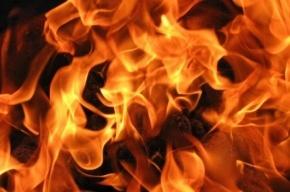 На Купчинской улице утром тушили пожар