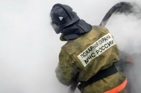В Ленобласти горит грузовая баржа