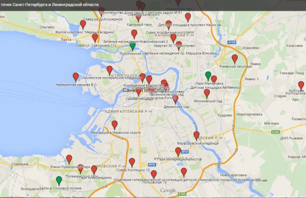 Петербуржцы составляют Карту горячих точек города